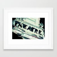 theatre Framed Art Prints featuring Theatre by Photography by Chelsea Lynn Bulik