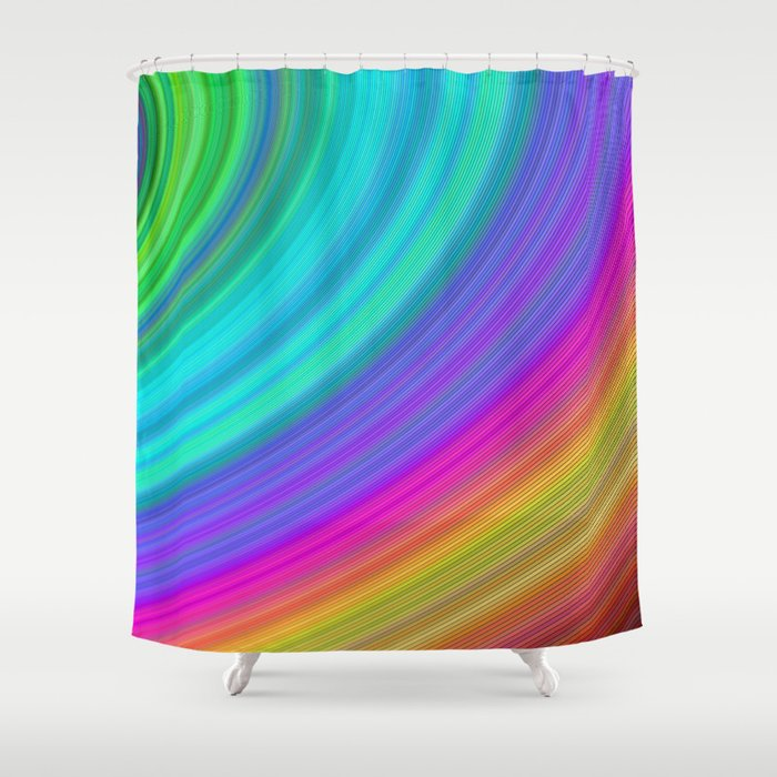 Rainbow Shower Curtain By Davidzydd