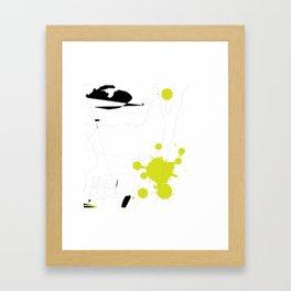 Lime Green Abstract Rick Genest Framed Art Print