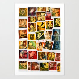 Love is A Bitch Polaroid Set Art Print