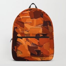 brown and dark brown painting abstract background Backpack