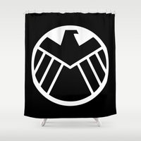 agents of shield Shower Curtains featuring SHIELD by Bastien13