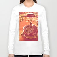 telephone Long Sleeve T-shirts featuring old telephone by gzm_guvenc