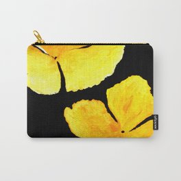 Oenothera, yellow flowers acrylic on canvas Carry-All Pouch