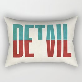 Devil in the detail. Rectangular Pillow