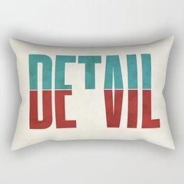 Devil in the detail. Rectangular Pillow