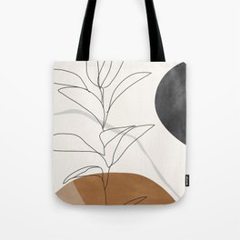 Abstract Art /Minimal Plant Tote Bag