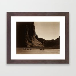 Navajo Riders - Canyon de Chelly - Edward Curtis Photo Print Framed Art Print