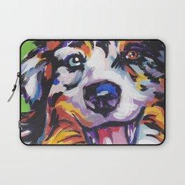 Fun AUSTRALIAN SHEPARD Dog bright colorful Pop Art Laptop Sleeve
