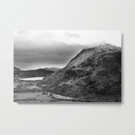 Mount Snowdon, Snowdonia, Wales. Metal Print