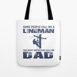 Lineman Dad Tote Bag