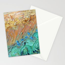 Wheat Field with Cypresses Brush Detail by Vincent van Gogh Stationery Cards