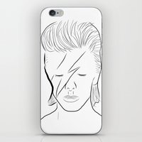 bowie iPhone & iPod Skins featuring Bowie by Luster