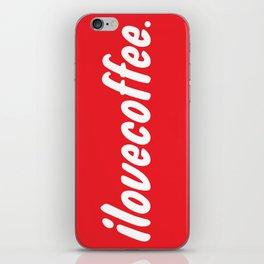 I love [illy] coffee iPhone Skin