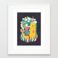 unicorn Framed Art Prints featuring Unicorn by Seaside Spirit