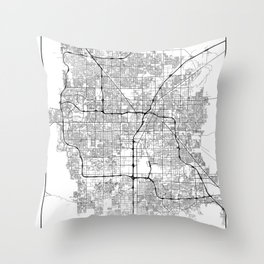 Minimal City Maps - Map Of Las Vegas, Nevada, United States Throw Pillow