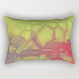 future fantasy eruption Rectangular Pillow