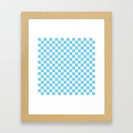 Light Blue Checkerboard Pattern Framed Art Print