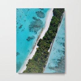 Maldivian long island Metal Print