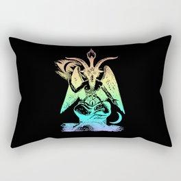 Pastel Rainbow Baphomet Rectangular Pillow