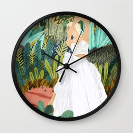 Forest Bride Wall Clock