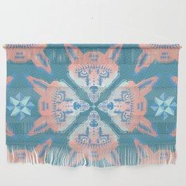 Pastel Fox Pattern Wall Hanging