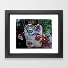 Pu$$y Monster Framed Art Print