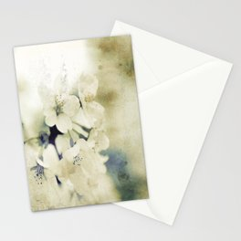 Yellow Green Vintage Cherry Flowers Stationery Cards