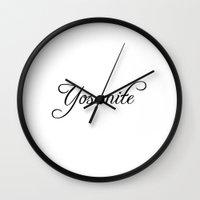 yosemite Wall Clocks featuring Yosemite by Blocks & Boroughs