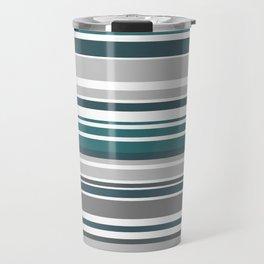 Turquoise Stripes Seamless Pattern Travel Mug