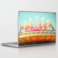 cars Laptop & iPad Skins featuring Spinning Cars by Cassia Beck