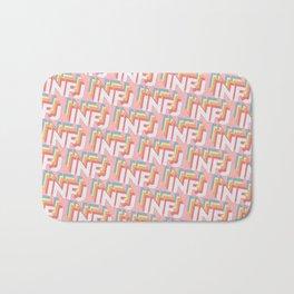 INFJ Trendy Rainbow Text Pattern (Pink) Bath Mat