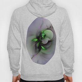 Abstract in Black and Green Hoody