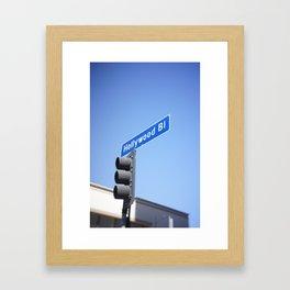hollywood blvd sign (mobile) Framed Art Print