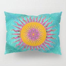 Magic Sun Mandala In Bold Colors Pillow Sham