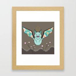 Flower Bat Framed Art Print