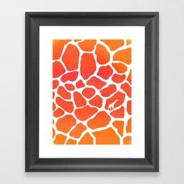 Giraffe Print | Animals Framed Art Print