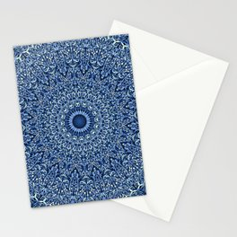 Sacred Blue Garden Mandala Stationery Cards