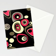 Abstract colorful polka dots pattern . Stationery Cards