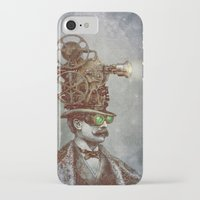 victorian iPhone & iPod Cases featuring The Projectionist (colour option) by Eric Fan