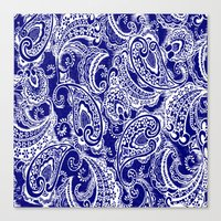 batik Canvas Prints featuring paisley batik by Ariadne