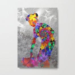 flower woman Metal Print