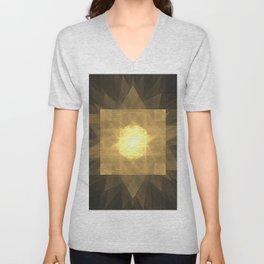 Spirit of the Golden Phoenix Unisex V-Neck