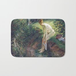 Camille Pissarro Bather in the Woods Bath Mat