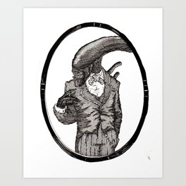 Fancy Mr. Xenomorph Art Print