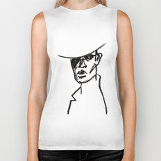 girl with hat Biker Tank