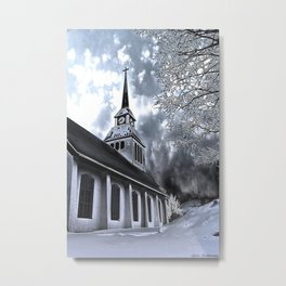 Church in Kuusamo, Finland Metal Print