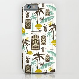 Island Tiki - White iPhone Case