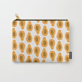 Watercolor Papaya Pattern Carry-All Pouch