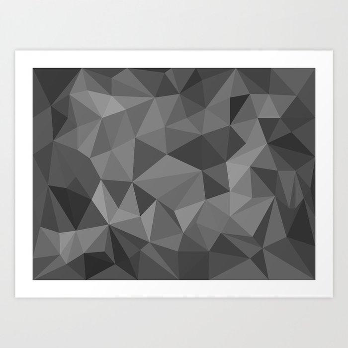 black polygon background Kunstdrucke